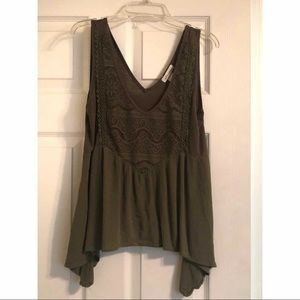 Self Esteem olive green top